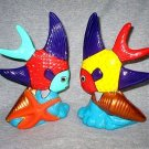 Art Pottery Ceramic Tropical Angel Fish Figurines