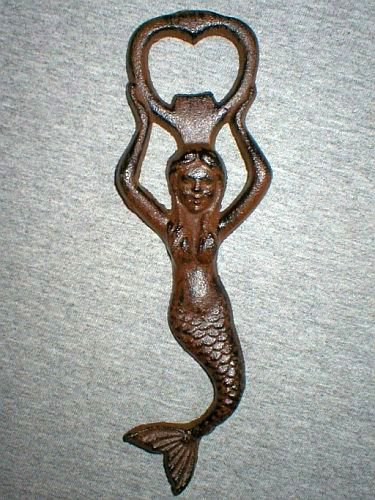 Bronze Cast Iron Mermaid Bottle Opener