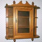 Mahogany Wood Knick Knack Curio Cabinet Display Shelf