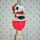 Peanuts Snoopy Santa Bubble Lamp Night Light