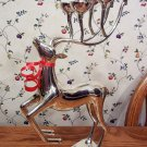 Silver Plated Holiday Reindeer Candle Holder