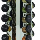 Kamenstein Revolving 20-Jar Countertop Rack Tower with Free Spice Refills for 5 Years,Silver