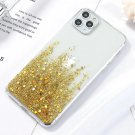 Bling Glitter Case For iPhone 12, 12 pro Cases Luxury Silicone Cover On iPhone Phone Covers Gold