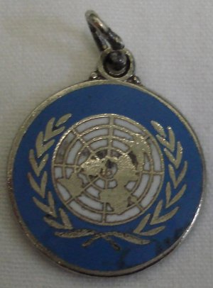 60's Vintage Sterling Enamel UNITED NATIONS EMBLEM Charm