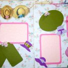 2 CUSTOM PREMADE SCRAPBOOK PAGES TEDDY BEAR TEA PARTY
