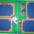 2 CUSTOM PREMADE SCRAPBOOK PAGES CHRISTMAS GIFTS GALORE