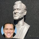 Actor Jim Carrey Sculpture Bust, 3D Printed and Spray Painted, 7 inch