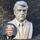 President Trump Sculpture Bust, 3D Printed and Spray Painted, 5.5H inches