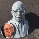 Rupert Murdoch Sculpture Bust, 3D Printed, 8H inch