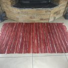 Rustic Fireproof Fireplace Carpet Shiny Red Hearth Fire Resistant Mat Rug