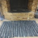 Rustic Fireproof Fireplace Carpet Shiny Gray Hearth Fire Resistant Mat Rug