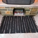 Rustic Fireproof Fireplace Carpet Shiny Brown Hearth Fire Resistant Mat Rug