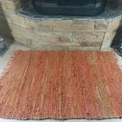 Rustic Fireproof Fireplace Carpet Orange Hearth Fire Resistant Mat Rug
