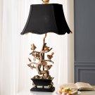 Couture Brass Bird Lamp
