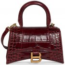 Balenciaga Croc Embossed Handbag