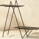 Indoor/ Outdoor Triangle Twin Peaks Plant Stand