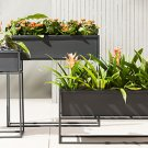 Set of 3 Iron and Steel Planters