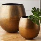 Rough Cast  Brass Large Planter