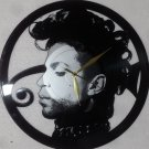 """PRINCE Laser Cut Vinyl Record Wall Clock upcycled from an Old 12"""""""