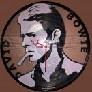 """DAVID BOWIE Laser Cut Vinyl Record Wall Clock upcycled from an Old 12"""""""