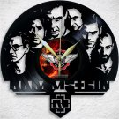 """RAMMSTEIN Laser Cut Vinyl Record Wall Clock upcycled from an Old 12"""""""