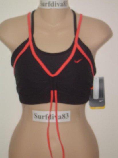 Nwt L NIKE DRI-FIT Women Sport Bra Top Shirt New $36 Large Black Flex N Funk