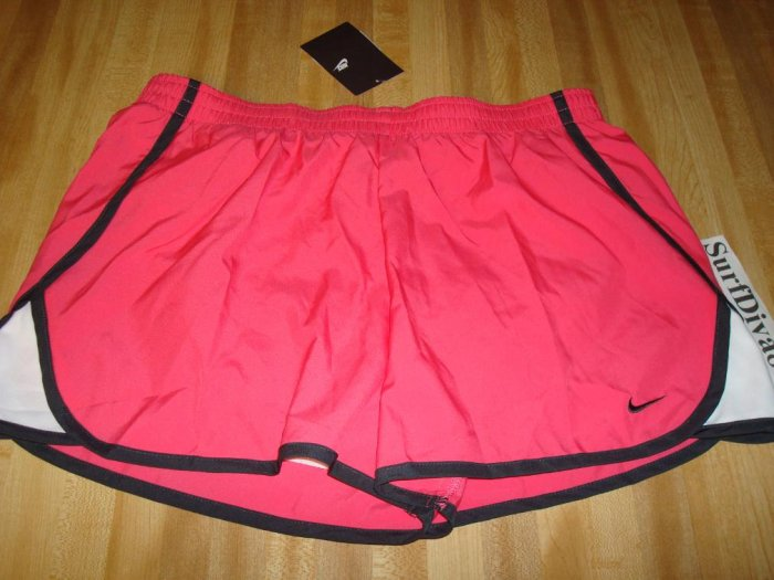NwT M 8 10 NIKE Women Pink Run Track Running Shorts NeW