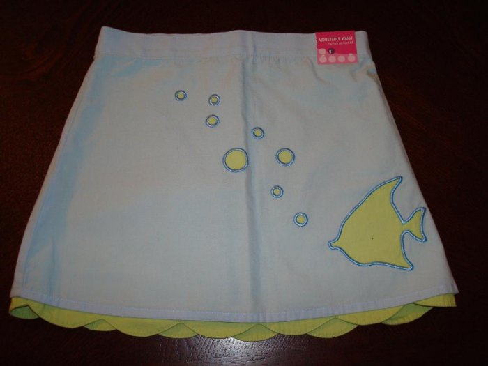 Nwt 3/3T GYMBOREE SPLASH Fish Tier Skirt New Girl $26