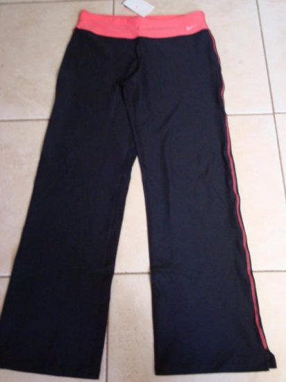 Nwt M NIKE Dri-fit Women Perfect WorkOut Pants New $60 Black Pink