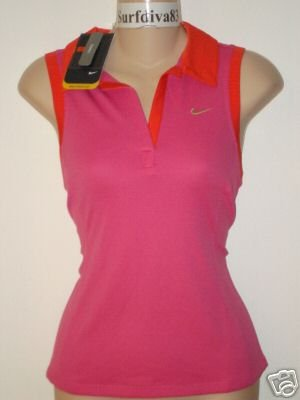 Nwt S NIKE Sphere Dry Women Polo Top Shirt New Tennis Small