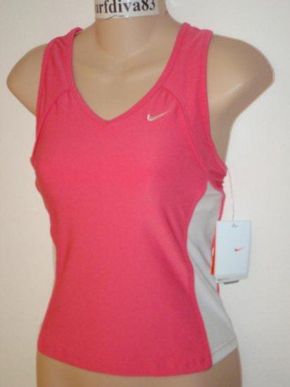 Nwt XS NIKE DRI-FIT Women Strength Tank Top Shirt New Xsmall Pink White