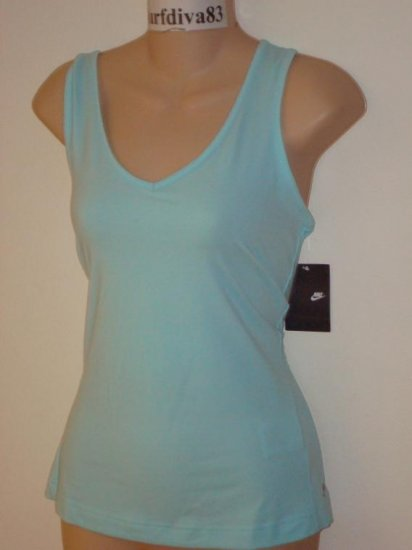 Nwt M 8-10 NIKE Women Fitness Yoga Tank Top Shirt New Medium Blue