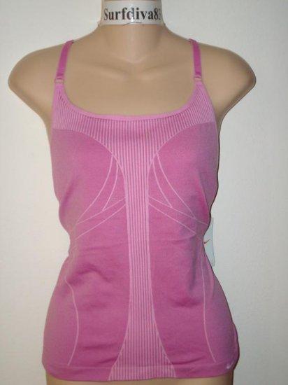 Nwt M L NIKE DRI-FIT Women Yoga Tank Top Shirt New $40 Medium Large Dark Pink