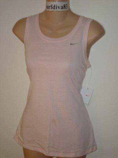 Nwt S NIKE DRI-FIT Women Fitness Tank Top Shirt New Small Pink