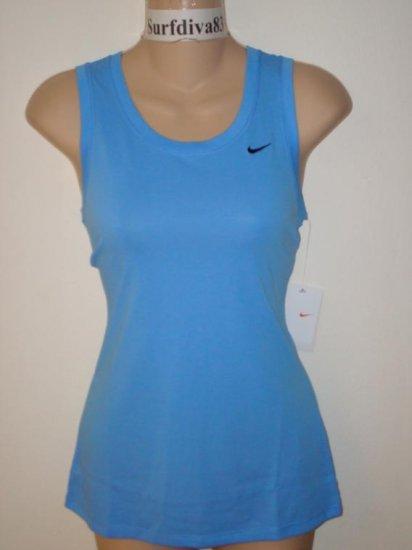 Nwt S NIKE DRI-FIT Women Fitness Tank Top Shirt New Small Blue