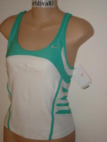 Nwt M NIKE DRI-FIT Land Shark Women Tank Top Shirt New Medium White