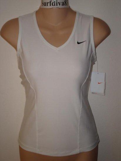 Nwt S 4-6 NIKE DRI-FIT Women CLUB Tank Top Shirt New Small White
