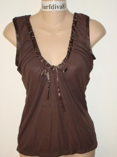 Nwt S NIKE Women Shake It Up Dance Tank Top Shirt New Small Brown