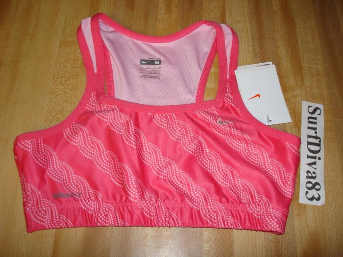 Nwt M 10-12 NIKE GIRL Dri-FIT Sport Bra Top Shirt New Medium Pink