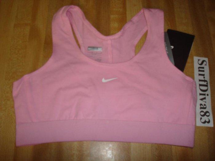 Nwt M 10 12 NIKE GIRL Pink Sport Bra Top Shirt New Medium