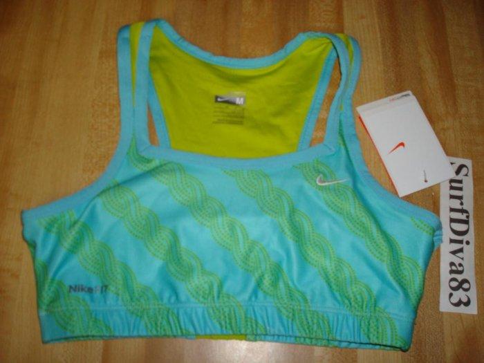 Nwt M 10 12 NIKE GIRL Dri-FIT Sport Bra Top Shirt New Medium Pattern