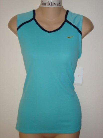 Nwt M NIKE DRI-FIT Running Women Tank Top Shirt New Medium Blue
