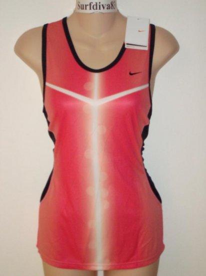 Nwt M NIKE Dri-Fit Women Race Day Tank Top Shirt New Medium Pink