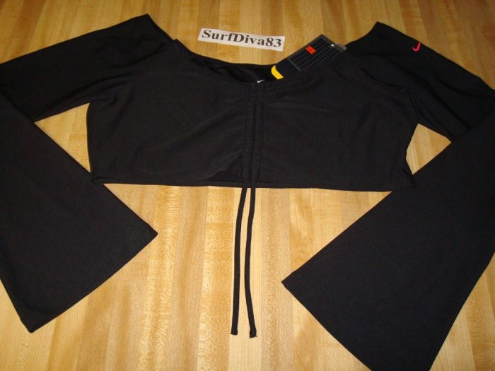 Nwt XL NIKE DRI-FIT Black Dance Top Shirt New Women $42 Xlarge