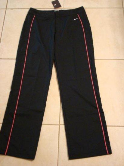 Nwt M 8 10 NIKE Black Pink WorkOut Women Pants New Medium