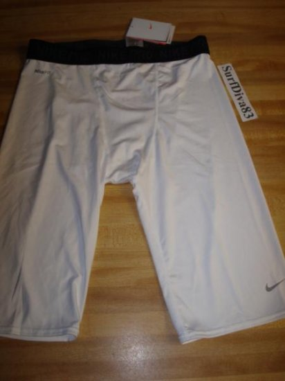 NwT XL Tall NIKE PRO Dri-fit Compression Shorts Men New Xlarge White