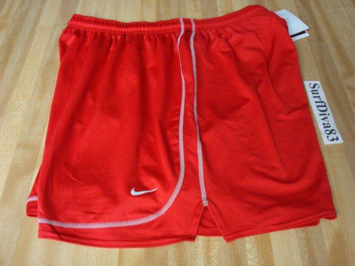 NwT L NIKE Dri-fit Red Tiempo Soccer Run Shorts Men New Large
