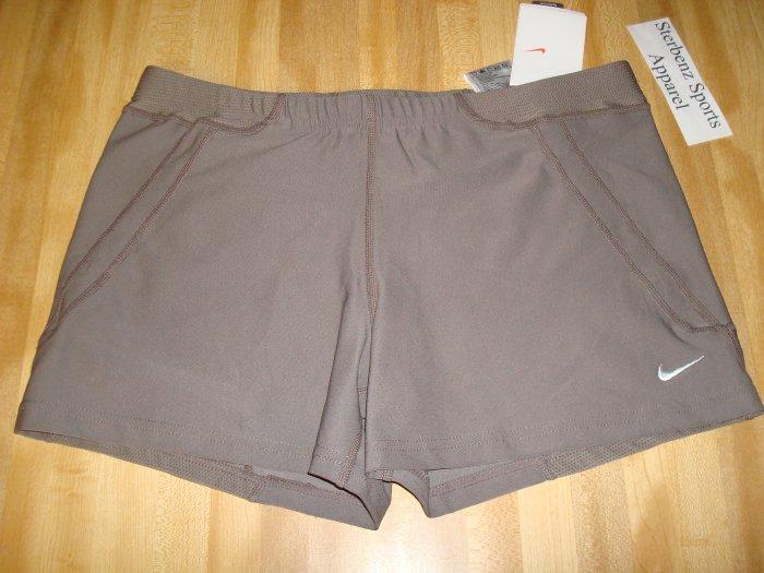Nwt M NIKE Women Acceleration Running Shorts New DriFit Medium Personal Best Clay
