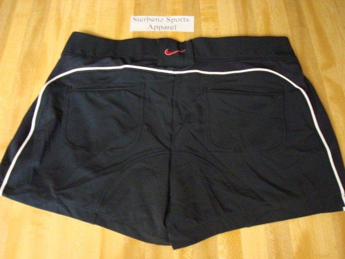 Nwt L NIKE Women Power Control Tennis Shorts New DriFit Large Black Pink 12 14