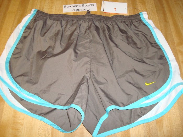 Nwt L 12-14 NIKE Fit Dry Women Tempo Running Shorts New Large Brown 211646-207